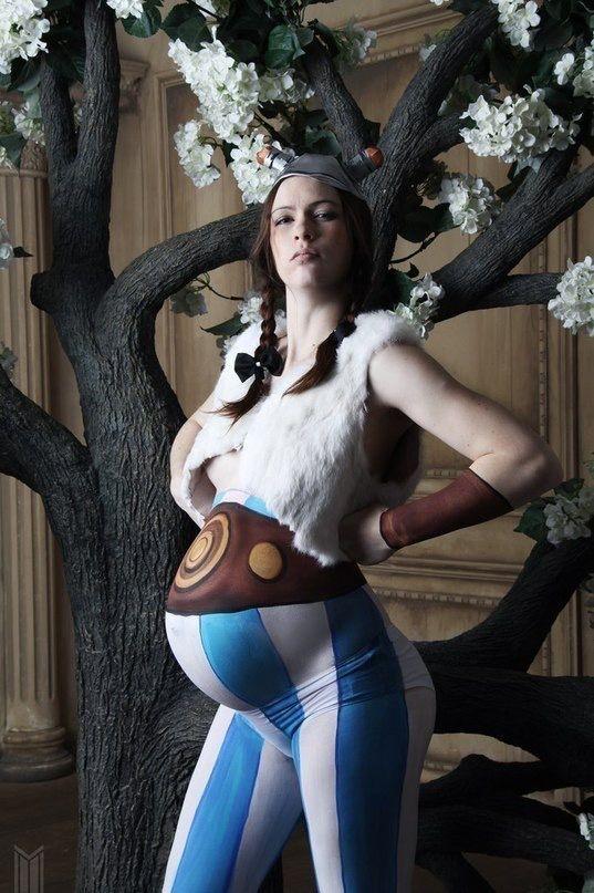 Obelix Kostüm selber machen   Kostüm Idee für Schwangere zu Karneval, Halloween & Fasching