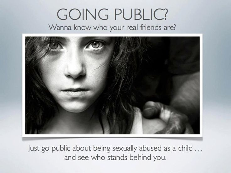 Question: if you were sexualy abused and you have a child that allways is?
