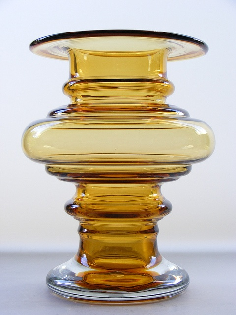 "Riihimaki ""Tornado"" amber cased glass vase by art-of-glass, via Flickr"