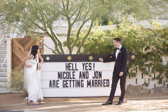 Colorful Retro-Inspired Palm Springs Wedding: Nicole + Jon