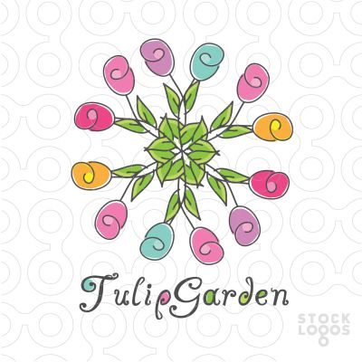Tulips Garden Logo