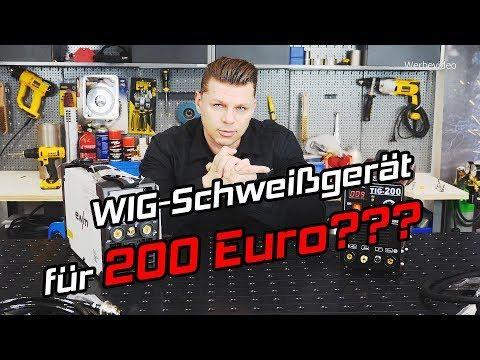 WIG Schweißgerät für 200 € - Testbericht Vergleich mit ewm Picotig 200 DC TIG Inverter - YouTube