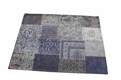 Carpet Patchwork Dark blue