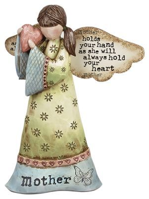 Mother Holds Your Hand Angel Figurine - By: Robin Davis
