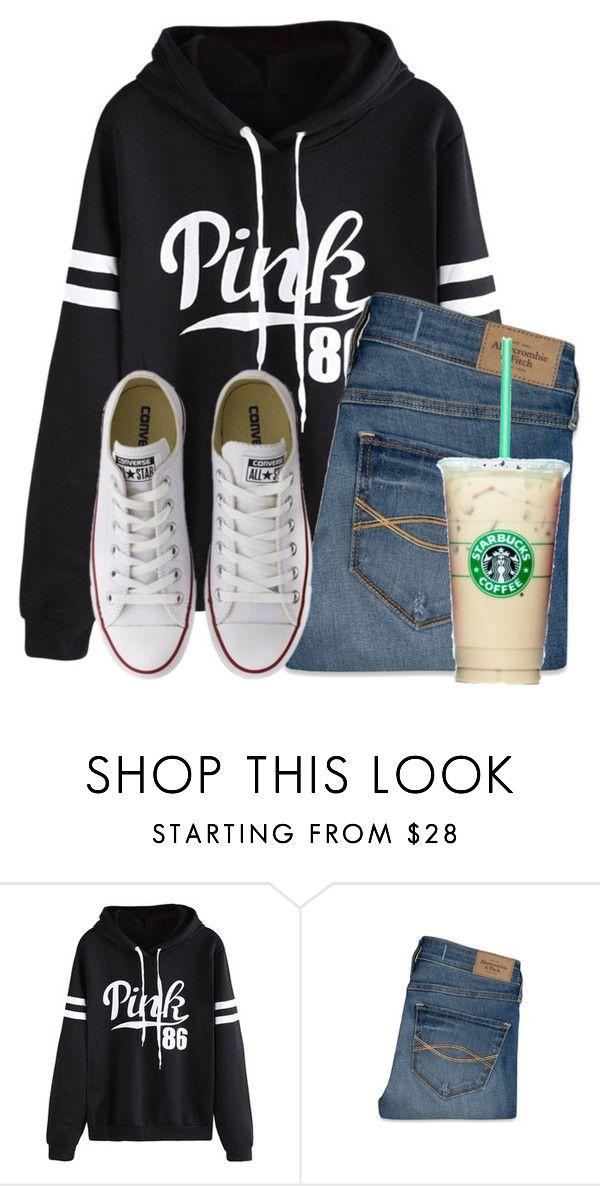 """""""Simple"""" by flroasburn ❤ liked on Polyvore featuring WithChic, Abercrombie & Fitch and Converse"""