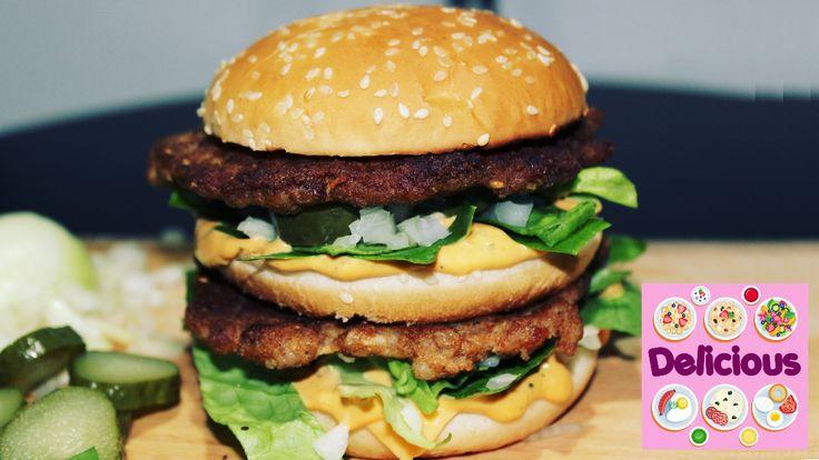 Homemade Big Mac Recipe - How to Make Big Mac Mc Donalds - Easy Big Mac ...