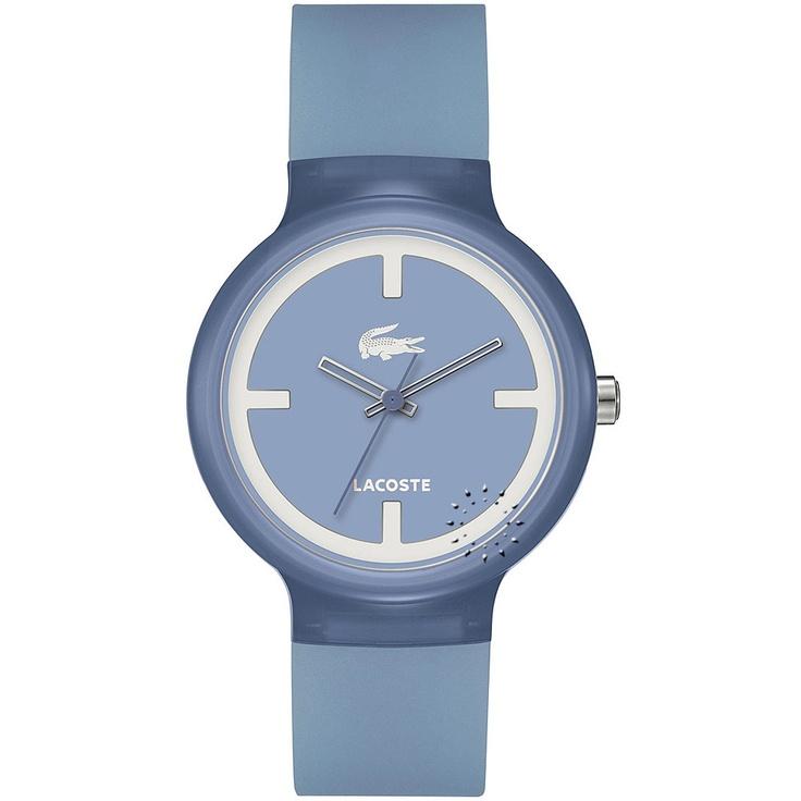 LACOSTE GOA Light Blue Rubber Strap  69€  Αγοράστε το εδώ: http://www.oroloi.gr/product_info.php?products_id=28350