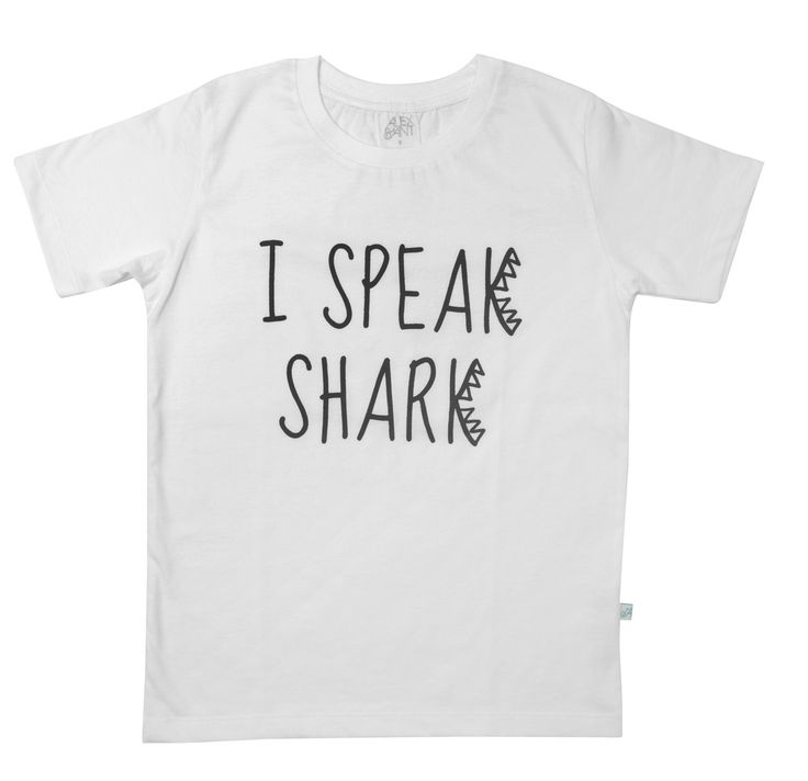 Alex & Ant Shark Talk Tee - White