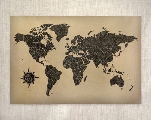 world map print | Wit & Whistle