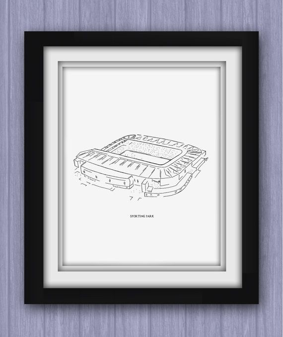 Sporting Kansas City Sporting Park Print by ArtByJosephDalton, $30.00