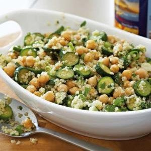 Courgette and quinoa salad