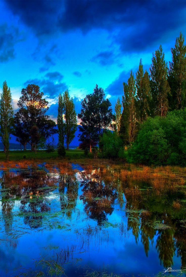 evening rainbow colors