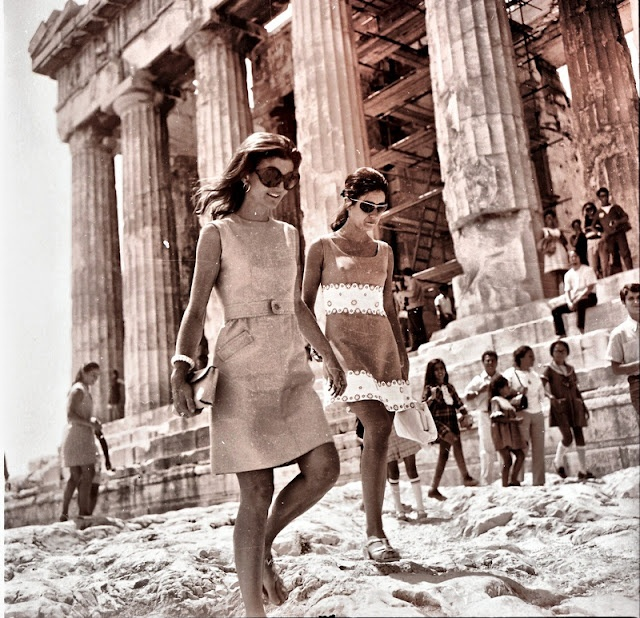 Jackie O at the Acropolis.