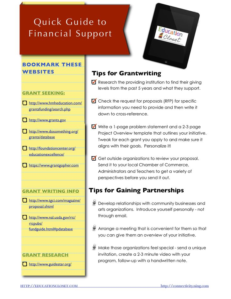 successful grant writing tips Show me the money: tips and resources for successful grant writing many educators have found that outside funding, in the form of grants, allows them to provide their students with educational experiences and materials their own districts can't afford learn how they get those grants -- and how you can get one too.