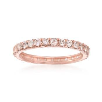 Ross-Simons - 1.00 ct. t.w. Morganite Eternity Band in 14kt Rose Gold Over Sterling - #845335