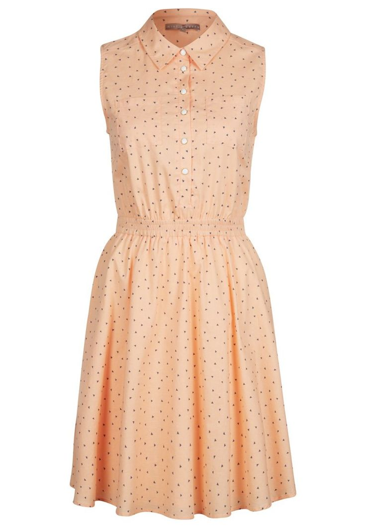 mint&berry - Vestido camisero - naranja