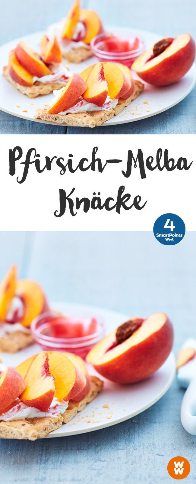 Pfirsich-Melba-Knäcke |4 SmartPoints/Portion, schnell & einfach, Weight Watchers, fertig in 5 min.