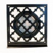 vierkant ventilatierooster zwart 125mm