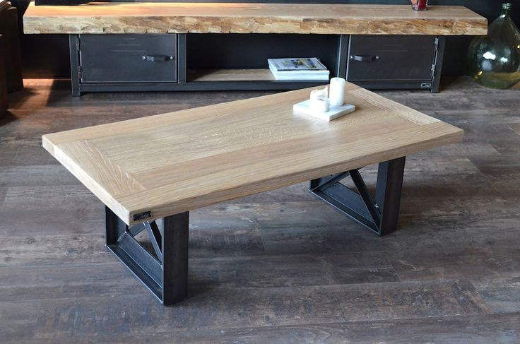 26 best images about table industrielle bois acier brut for Petite table industrielle