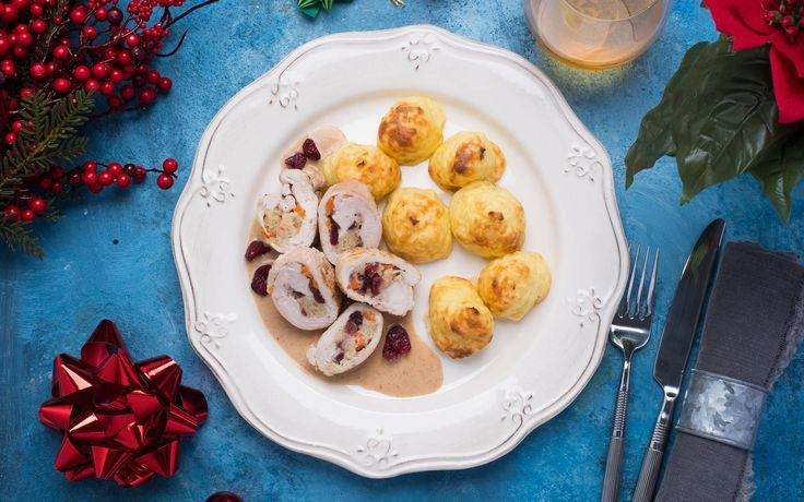 Christmas Cranberry Turkey Ballotine