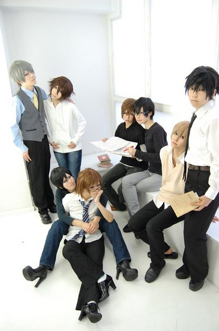This one also features the guys from Junjou Romantica