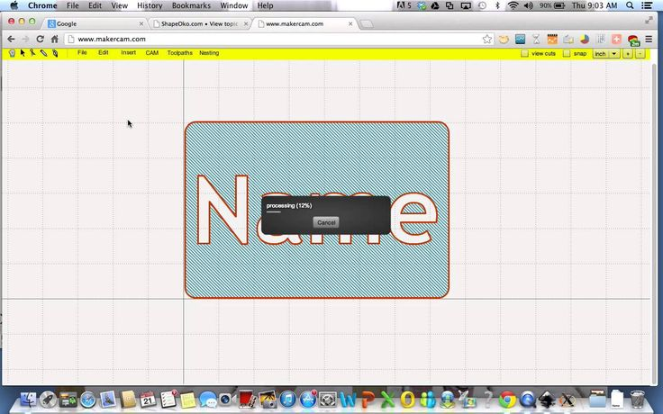 Shapeoko - Cutting Embossed name plate CNC Pinterest CNC and