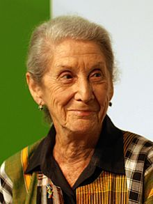 "Nadine Gordimer-- (20 November 1923 – 13 July 2014) was a South African writer, political activist and recipient of the 1991 Nobel Prize in Literature. She was recognized as a woman ""who through her magnificent epic writing has – in the words of Alfred Nobel – been of very great benefit to humanity""."