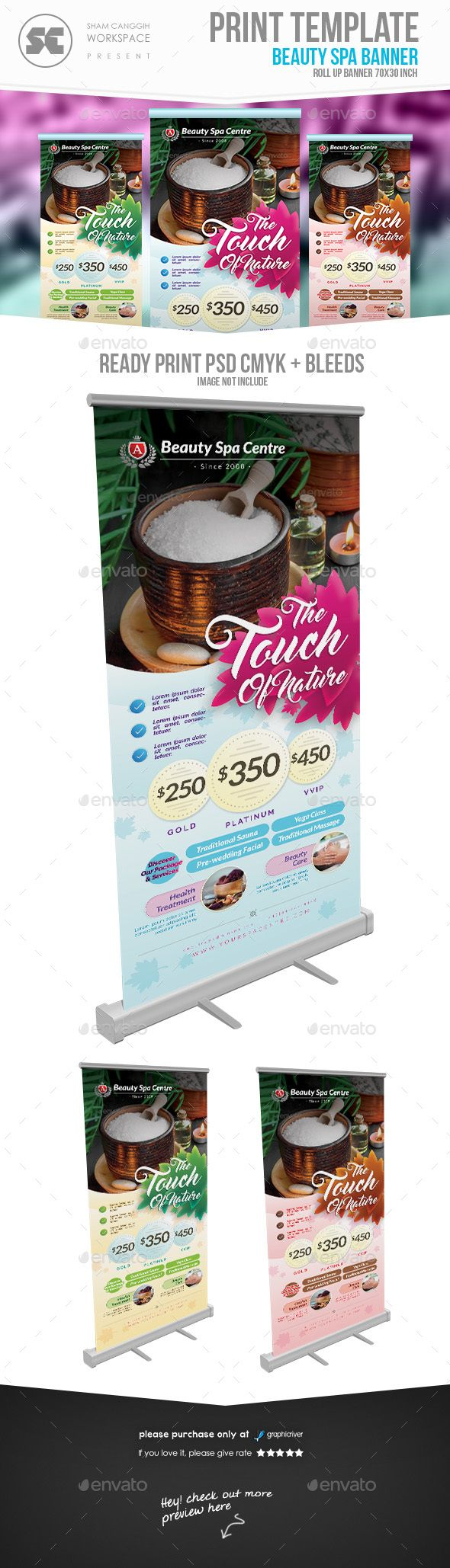 Beauty & Health Banner Template PSD