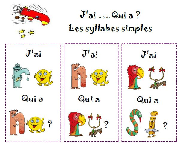 lecture de syllabes - jeu collectif