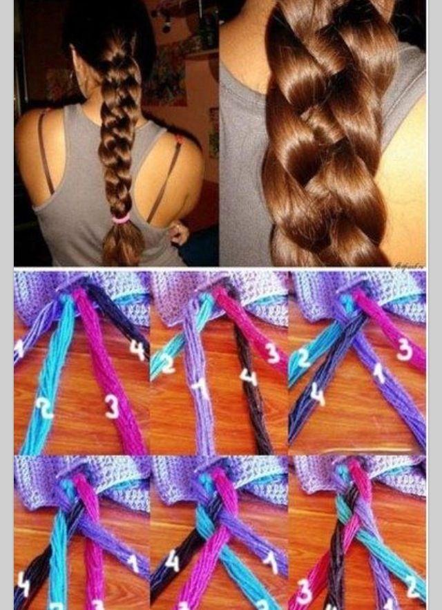 DIY Sailor's knot braid  Vlechten met 4 strengen haar!