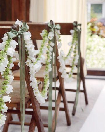 DIY flower garlands