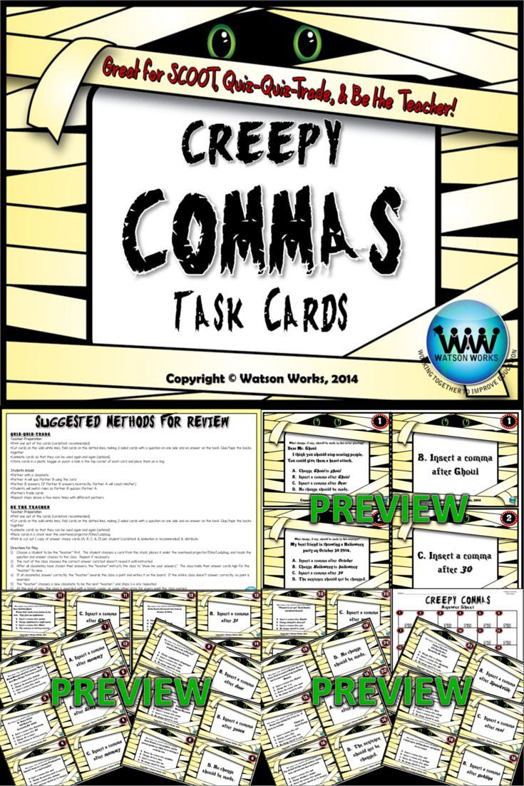 Dates and Addresses Commas Worksheet | Englishlinx.com Board | Pinter ...