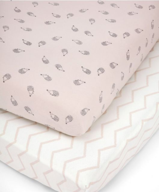 Cotbed Fitted Sheets (pack of 2) - Pink