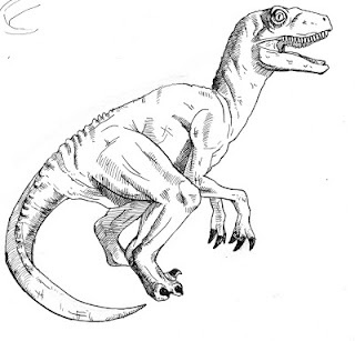 Eliza's Journal. Illustrations by Kati Green. Velociraptor.