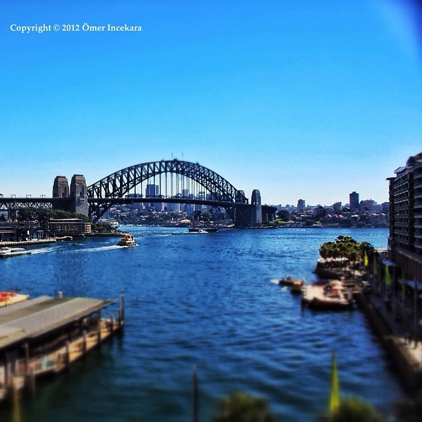 Circular Quay and the bridge. Sydney Australia