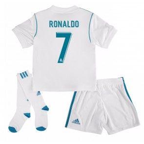 Real Madrid Cristiano Ronaldo 7 Dětské Domácí dres komplet 17-18 Krátký Rukáv