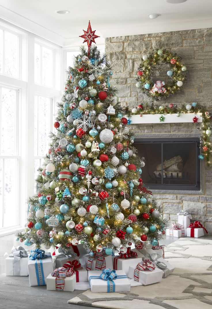 Spread holiday cheer around your home by setting up your Christmas tree early! Get the look of vintage-inspired glass ornaments with the benefits of shatter-proof (safe for kids and pets!). Picture Here: Martha Stewart Living Christmas Morning Collection, available only at The Home Depot.