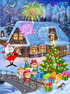 Gifs navideños: Casas navideñas