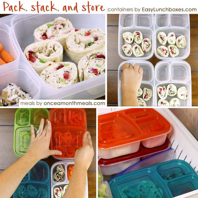 Pack, stack, and store in EasyLunchboxes