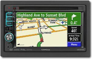 Kenwood DNX5120 6.1-Inch-Wide Double-DIN In-Dash Navigation with USB/iPod Direct Control/DVD Receiver by Kenwood. $398.90. From the Manufacturer                From the Manufacturer Manufacturer's Review (December 3, 2008)The DNX5120 is a full-featured Entertainment and Navigation system with USB Direct Control for iPods or other portable music devices. With built-in Garmin navigation technology, the DNX5120 has maps of the United States, Canada and Puerto Rico an...