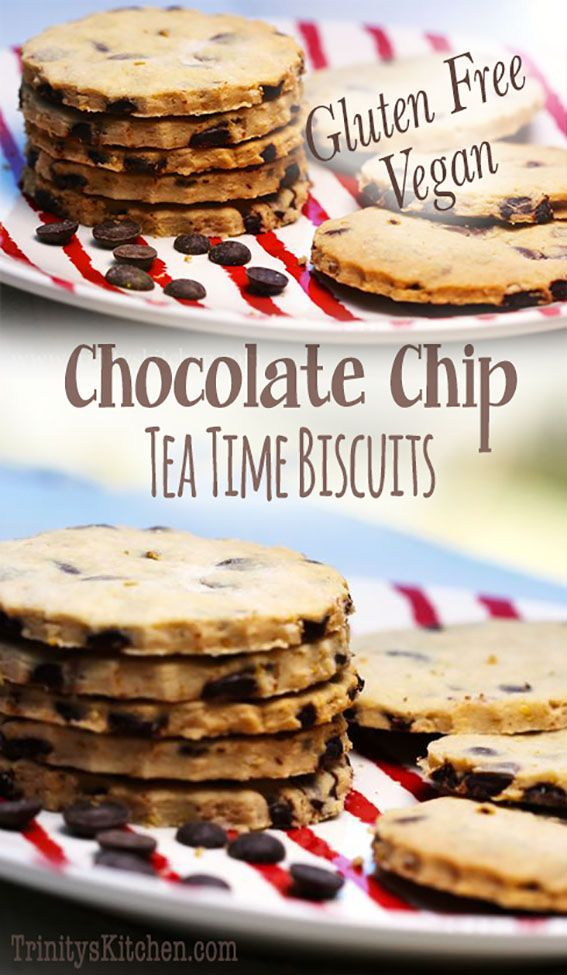 Gluten free chocolate chip tea time biscuits. #glutenfree #dairyfree #vegan