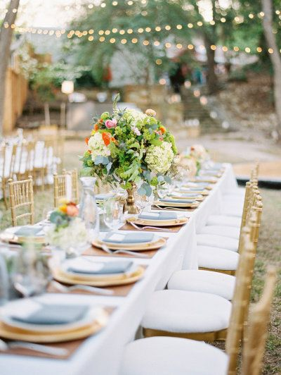 #tablescapes Photography by ryanrayphoto.com    Event Coordination by eventsbykristin.net    Floral Design by stemsofdallas.com    Read more - http://www.stylemepretty.com/2013/07/01/backyard-dallas-wedding-from-ryan-ray-photography/