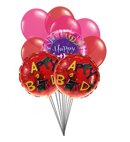 Send Wishes with  cheering ,colorful birthday #balloons