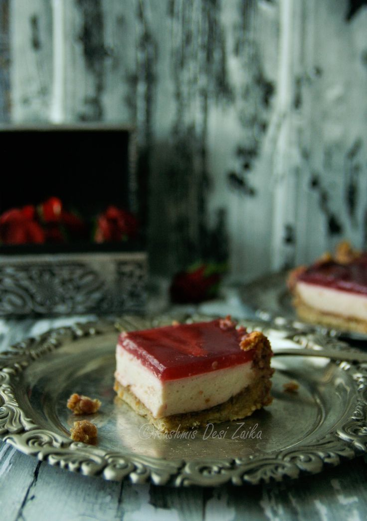Rosewater and Pomegranate Bites #desserts #rosewater #newcreations #sweetandsour #pomegranate #rashmisdesizaika