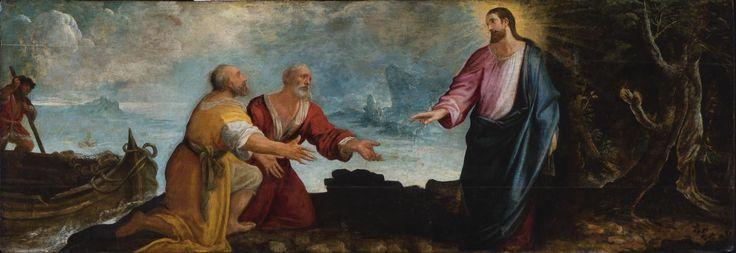 Calling of Saint Peter and Saint Andrew / Vocación de San Pedro y San Andrés // c. 1610 // Juan de Roelas // Museo de Bellas Artes de Bilbao // #Jesus #Christ #fishers #apostle