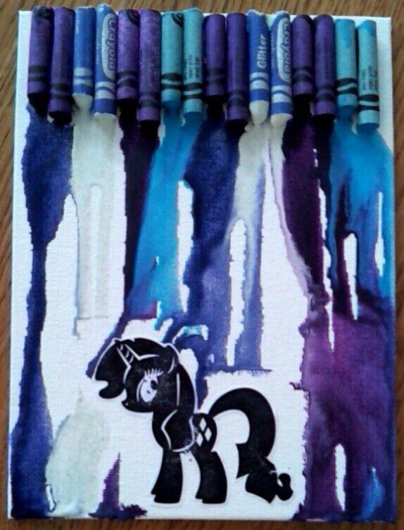 Rarity crayon art