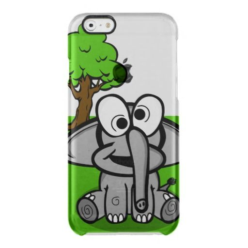 Goofy Elephant Cartoon Uncommon Clearly™ Deflector iPhone 6 Case