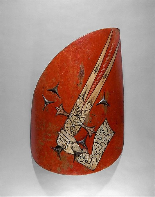 Hungarian-style Shield - Wood, leather, gesso, and polychromy - Eastern European - c. 1500-1550