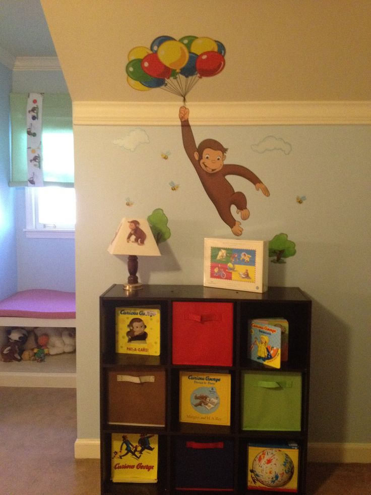 25 best ideas about curious george bedroom on pinterest for Curious george wall mural