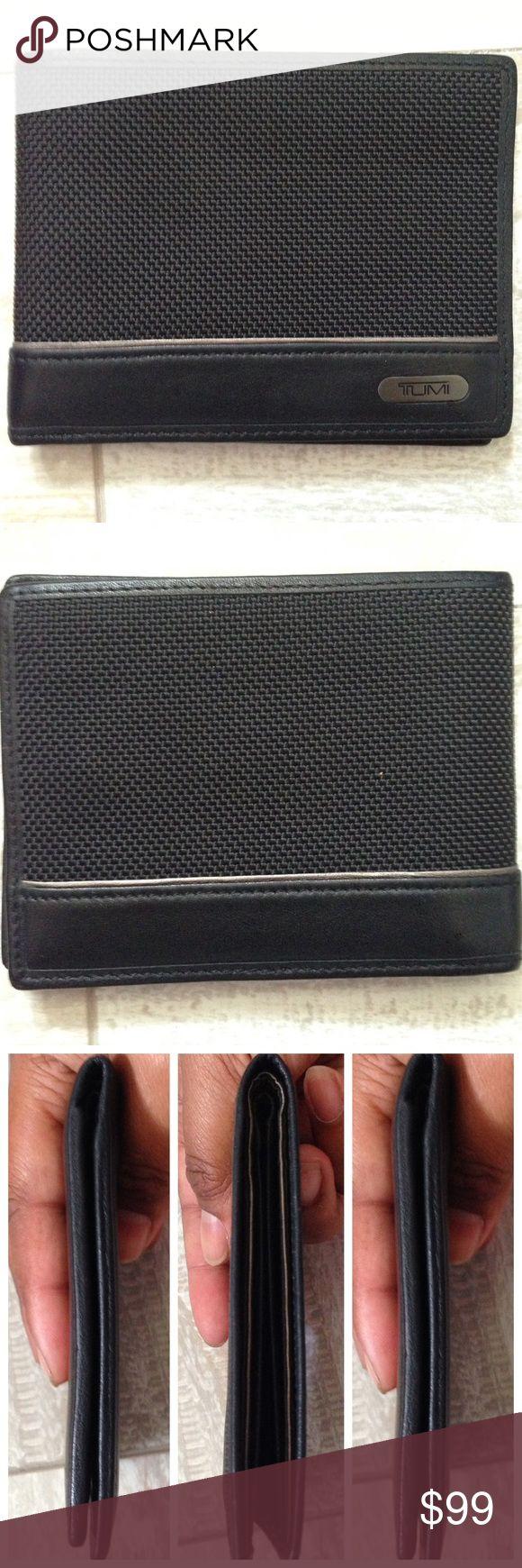 ⚡️SALE TUMI black ballistic leather mens bifold Wa TUMI black ballistic leather mens bifold Wallet  PreLoved  Hardly used No box Tumi Bags Wallets